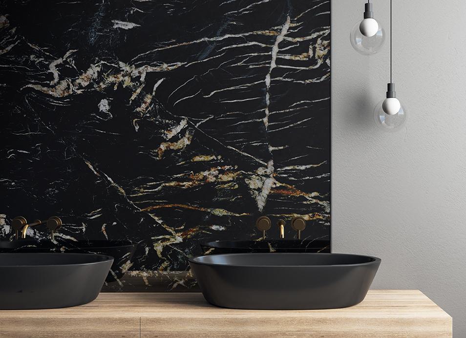 Belvadere Polished Bathroom Splashback