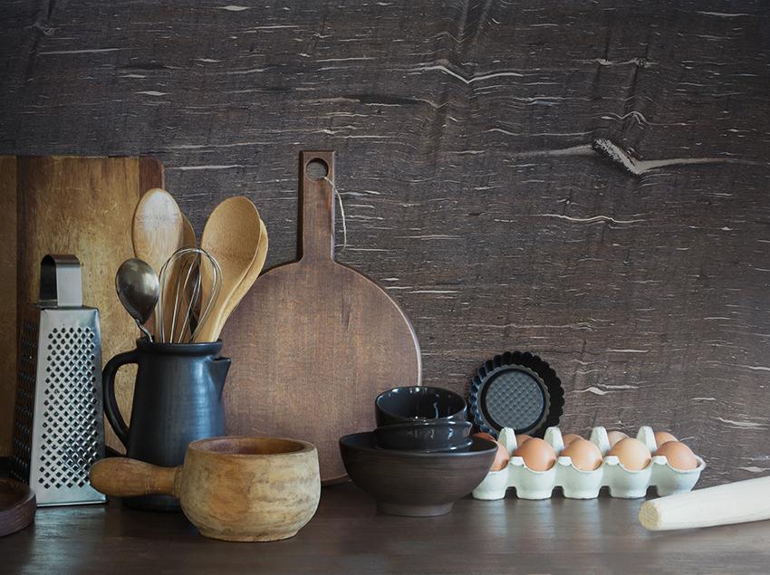 Brown Silk Kitchen SplashBack