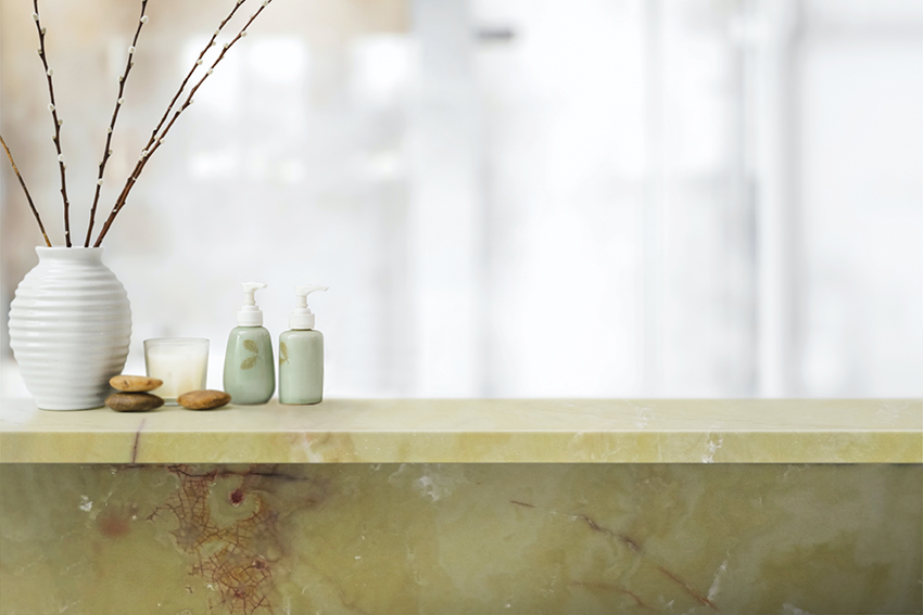 Green Onyx Bathroom Shelf