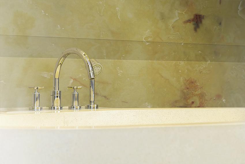 Green Onyx Bathroom Splashback