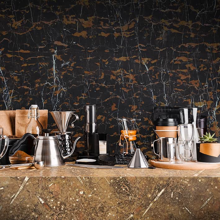 Mixed Marble Coffee Shop