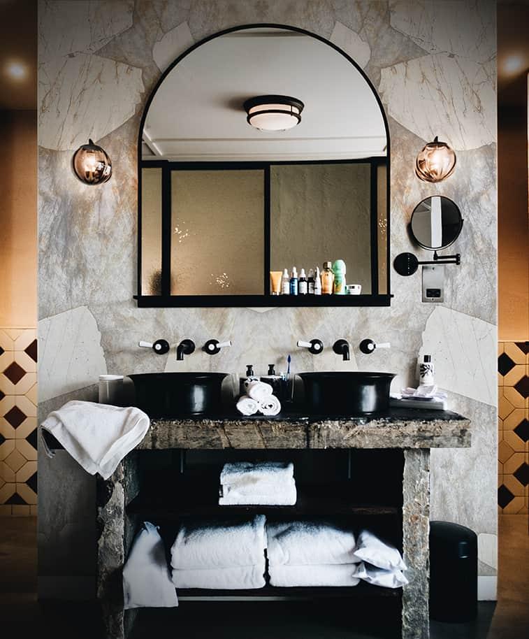 Patagonia Desert Bathroom Vanity Wall