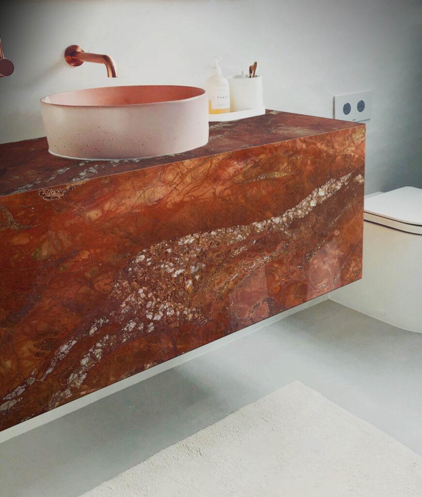 Rosso Damascus Bathroom Vanity Unit