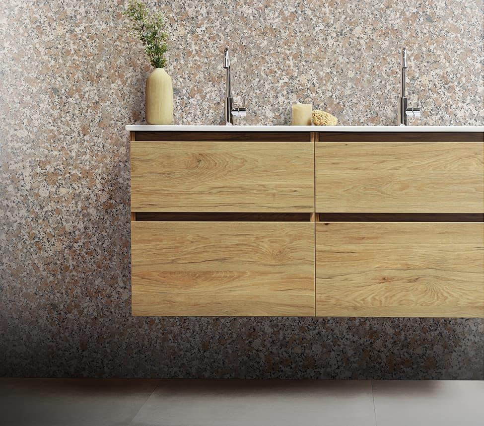 Rosso Limbara Bathroom Wall