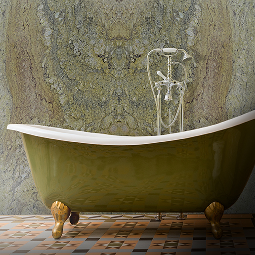 Typhoon Green Pattern Mix Bathroom