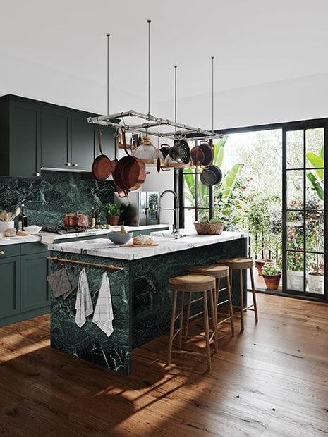 Verde Tinos Carrara Mix Kitchen