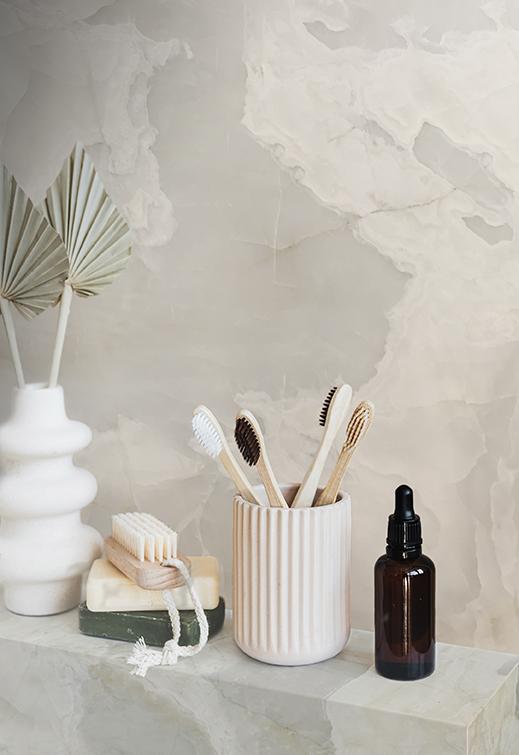 White Onyx Bathroom