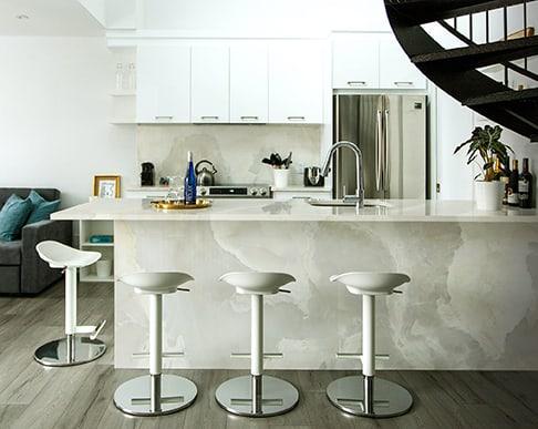 White Onyx Kitchen Island